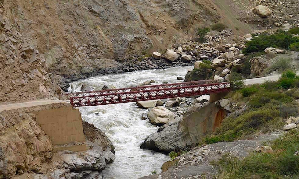 Brücke bei Huallanca - Canon del Pato - Peru