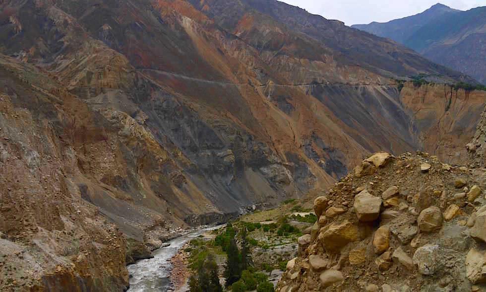 Bunte Berge - Canon del Pato - Entenschlucht - von Caraz nach Chimbote in Peru
