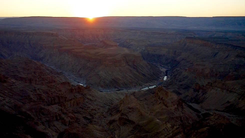 Sonnenuntergang Fish River Canyon Namibia Afrika
