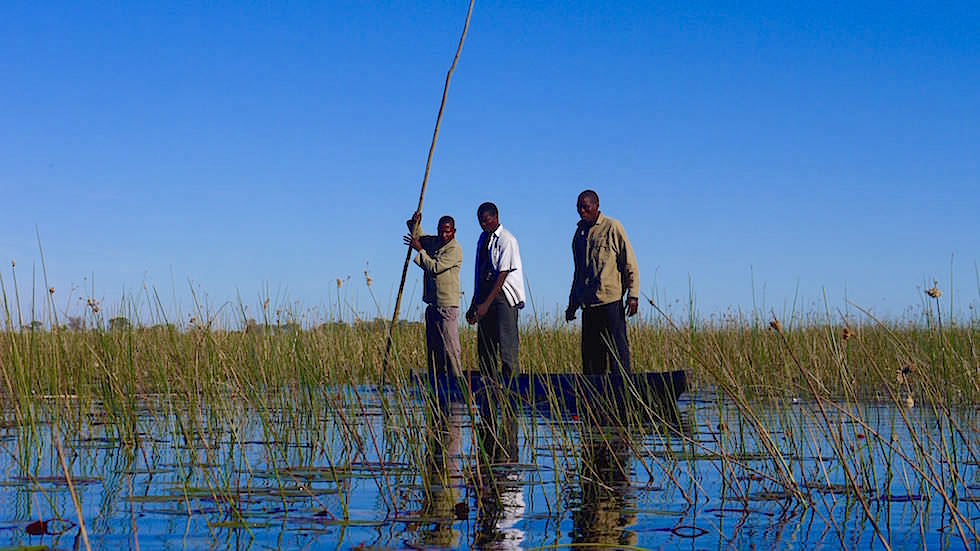 Fishing with Mokoro in the Okavango Delta Botswana Africa