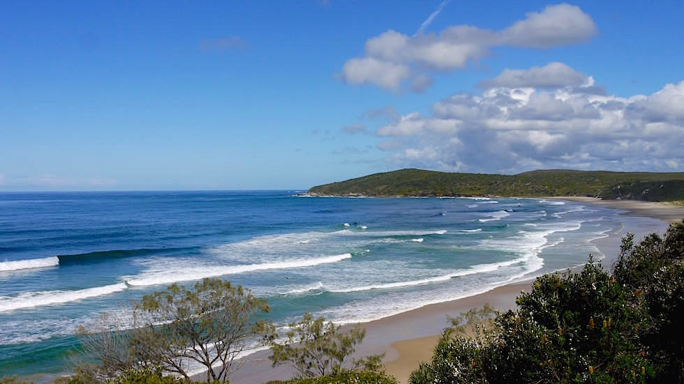 Spookies Beach in Angourie - Yamba -Clarence Coast - New South Wales Australien