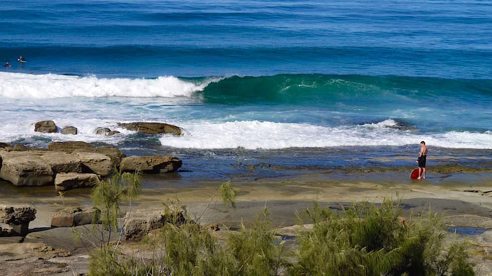 Surfen am Green Point in Angourie - Yamba -Clarence Coast - New South Wales Australien