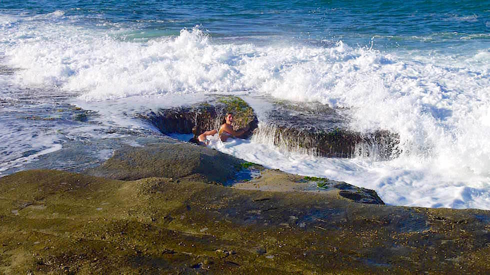Rock Pools in Angourie - Yamba -Clarence Coast - New South Wales Australien