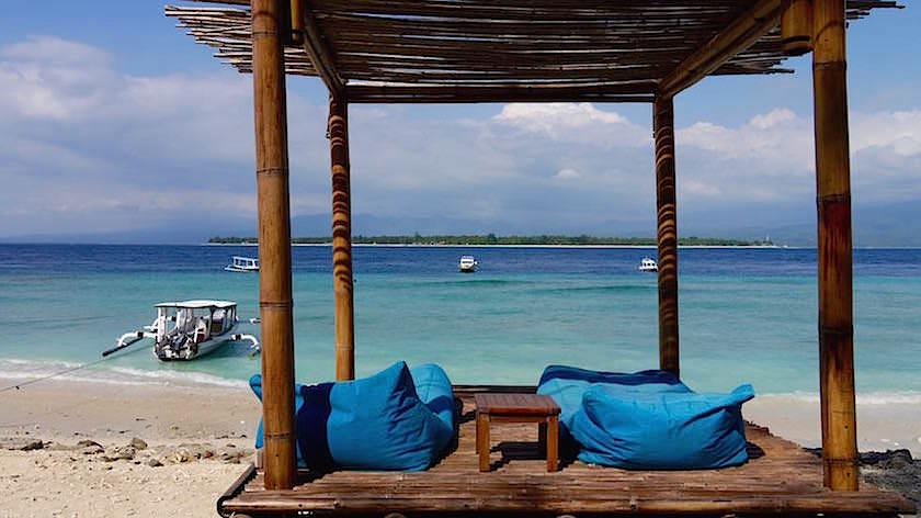 Strand von Gili Meno Indonesien