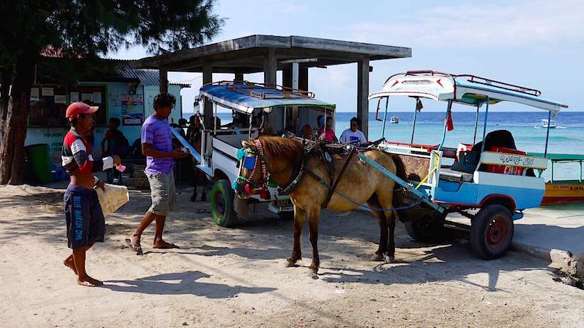 Gili Meno - am Hafen - Indonesien