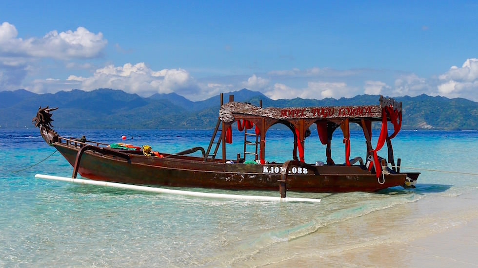 Gili Meno - Strand - Boot - Indonesien