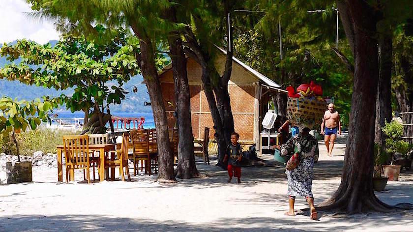 In der Nähe des Hafens - Gili Meno Indonesien