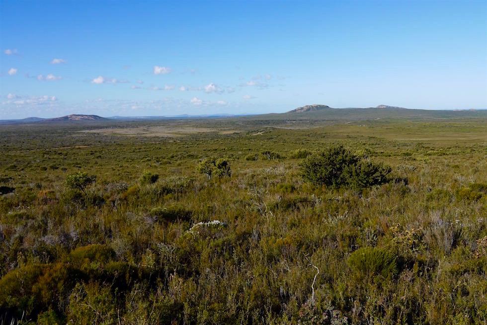 Blick in die Weite Landschaft des Cape Le Grand Nationalparks - Western Australia