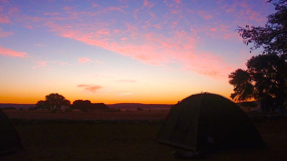 Sunset Sesriem Campsite Namibia Afrika