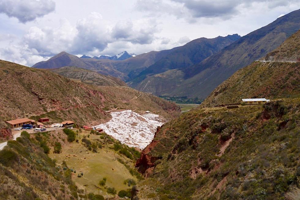 Salinas de Maras - Ausblick von der Straße auf 3000 Salzbecken - Valle de Sagrado - Tagesausflug von Cusco - Peru