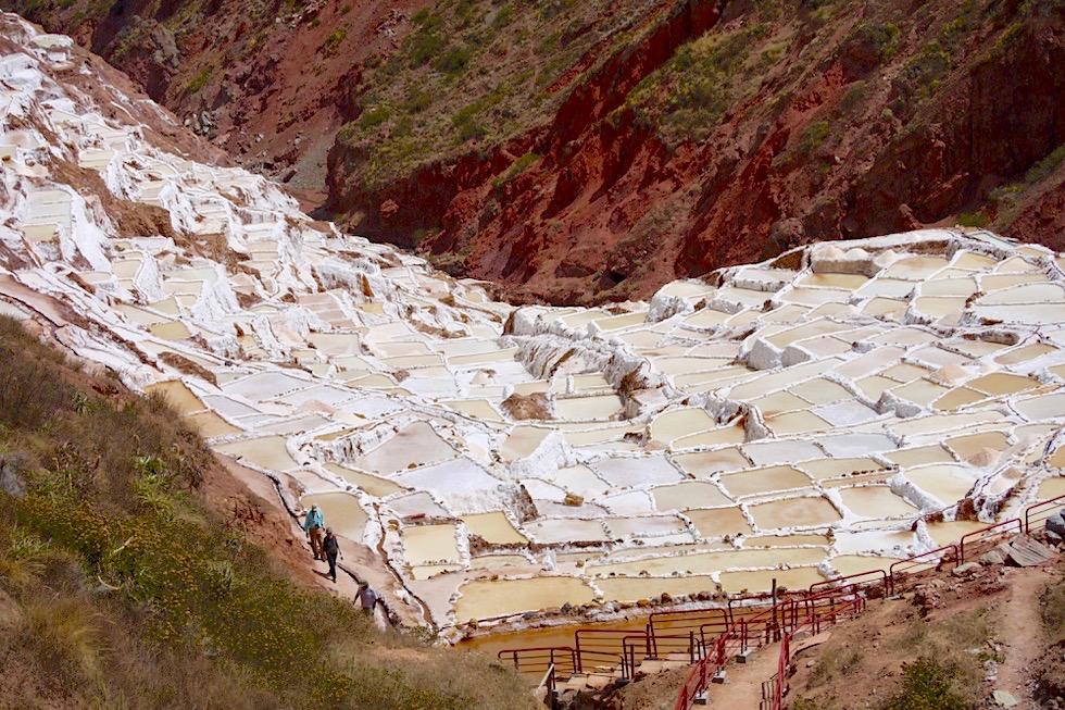 Überwältigend: Salineras de Maras - 3000 Salzbecken - Valle de Sagrado - bei Cusco - Peru