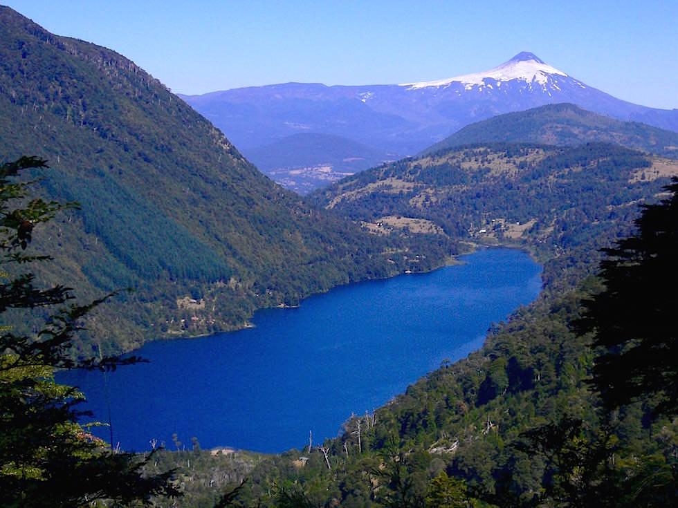 Vulkan Villarica vom Lago Tinquilco - Chile