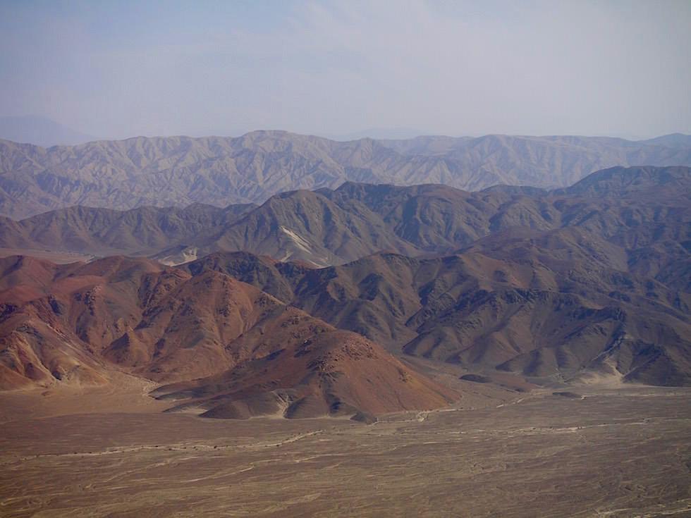 Landschaft Nasca Wüste Peru
