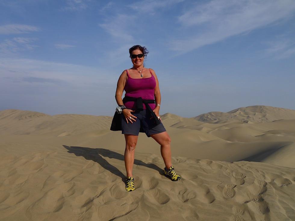 Spaziergang Sanddünen Huacachina Ica Peru