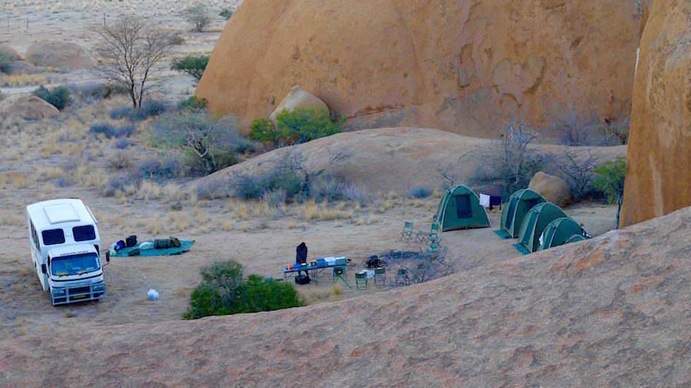 Camping Spitzkoppe - Spitzkoppe Gebirge - Namibias Matterhorn Afrika