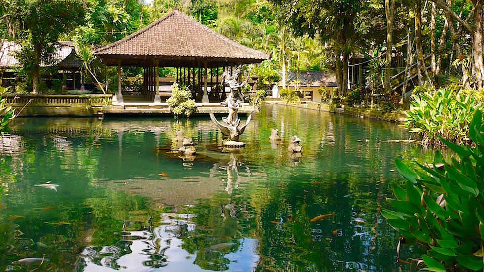 Göttin Wisnu - Pura Gunung Kawi Sebatu - Bali, Indonesien