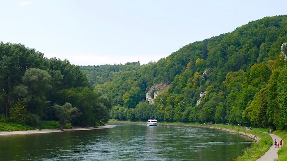Ausgangspunkt Wanderung Donaudurchbruch - Weltenburger Enge bei Kehlheim Bayern