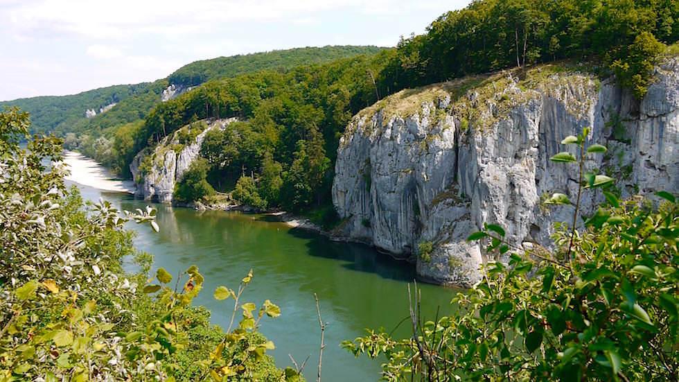 Donaudurchbruch von oben - Wanderung zum Donaudurchbruch - Weltenburger Enge bei Kehlheim Bayern