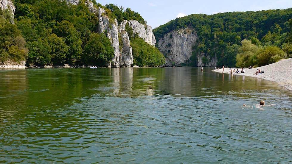 Donaudurchbruch - Wanderung zum Donaudurchbruch - Weltenburger Enge bei Kehlheim Bayern