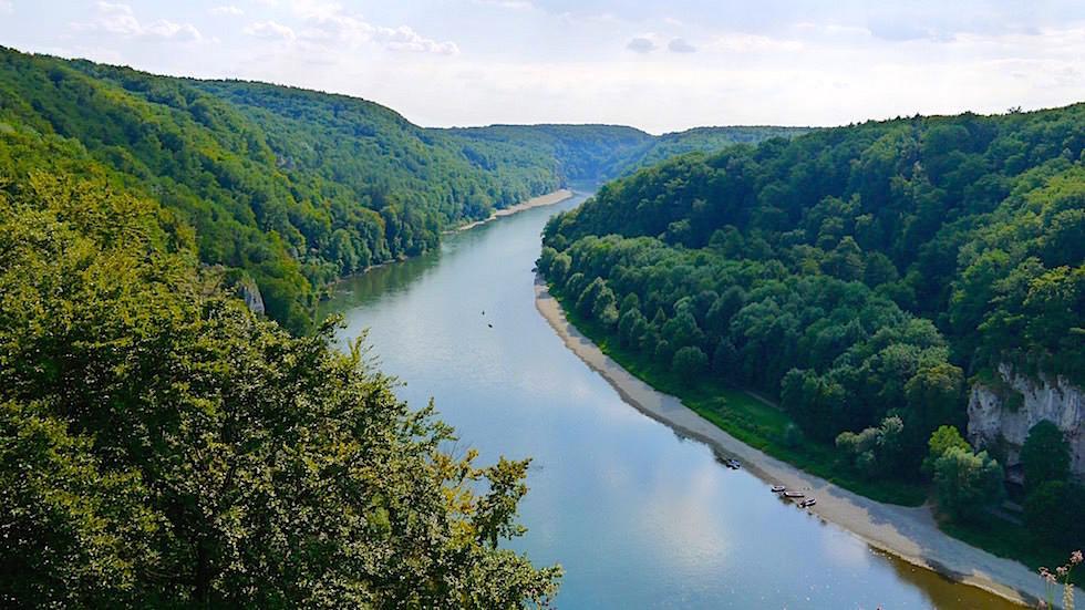 Donauverlauf - Wanderung zum Donaudurchbruch - Weltenburger Enge bei Kehlheim Bayern