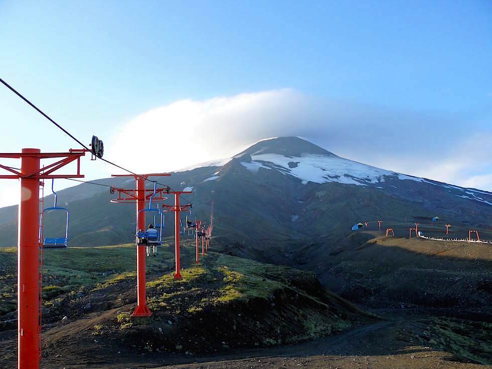 von der Seilbahn Vulkan Villarrica - Pucon - Chile
