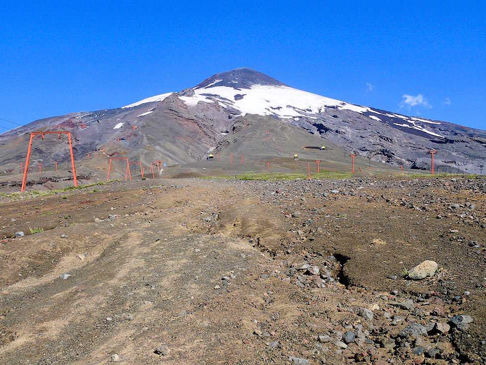 Blick auf Vulkan Villarrica - bei Pucon in Chile