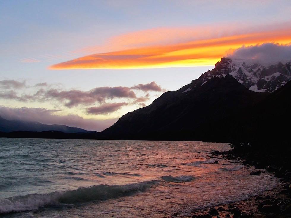 Sonnenuntergang - Lago Pehoe - Torres del Paine Nationalpark - Patagonien, Süd-Chile