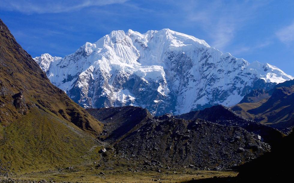 Blick auf Salkantay - Salkantay Trek Peru zum Machu Picchu