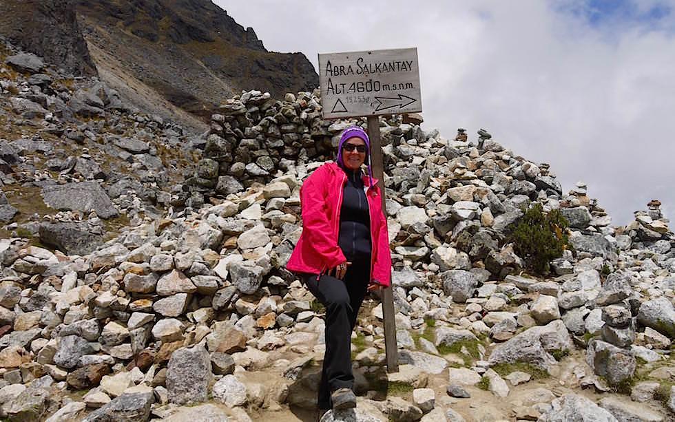 Abra Salkantay auf der Passhöhe - Salkantay Trek Peru zum Machu Picchu