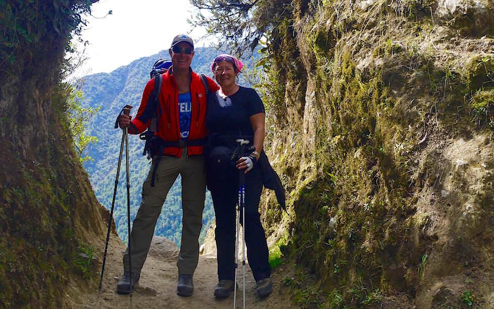 Abstieg nach dem Pass - Salkantay Trek Peru