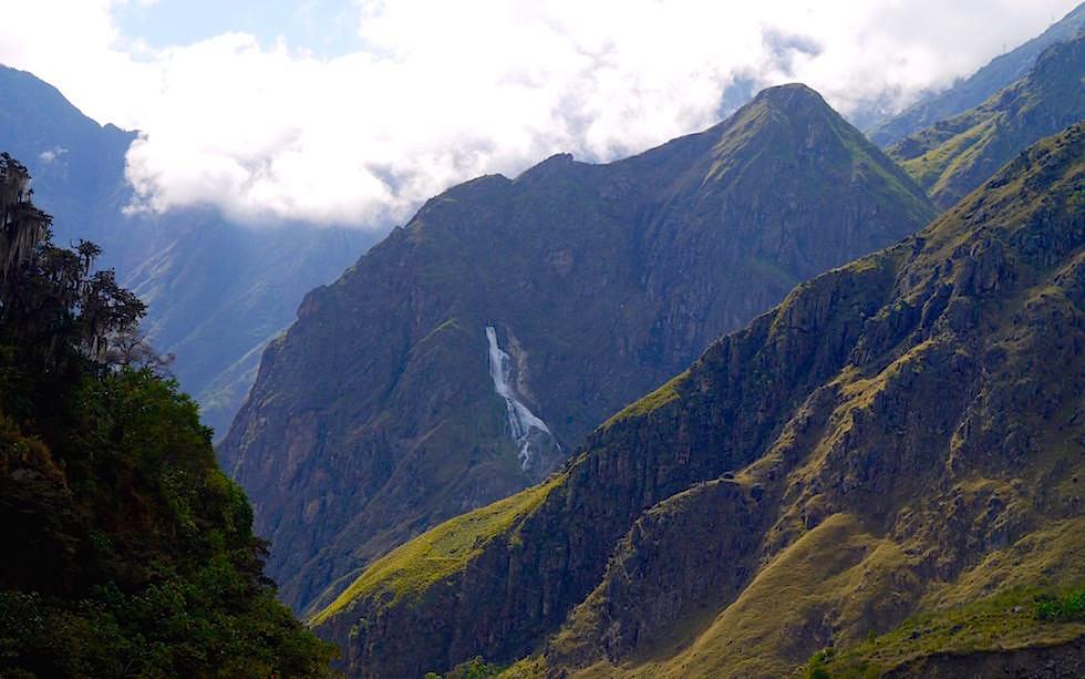 Machu Picchu in Wolken Salkantay Trek Peru