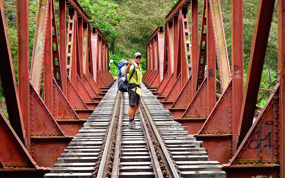 Eisenbahnschienen Salkantay Trek Peru