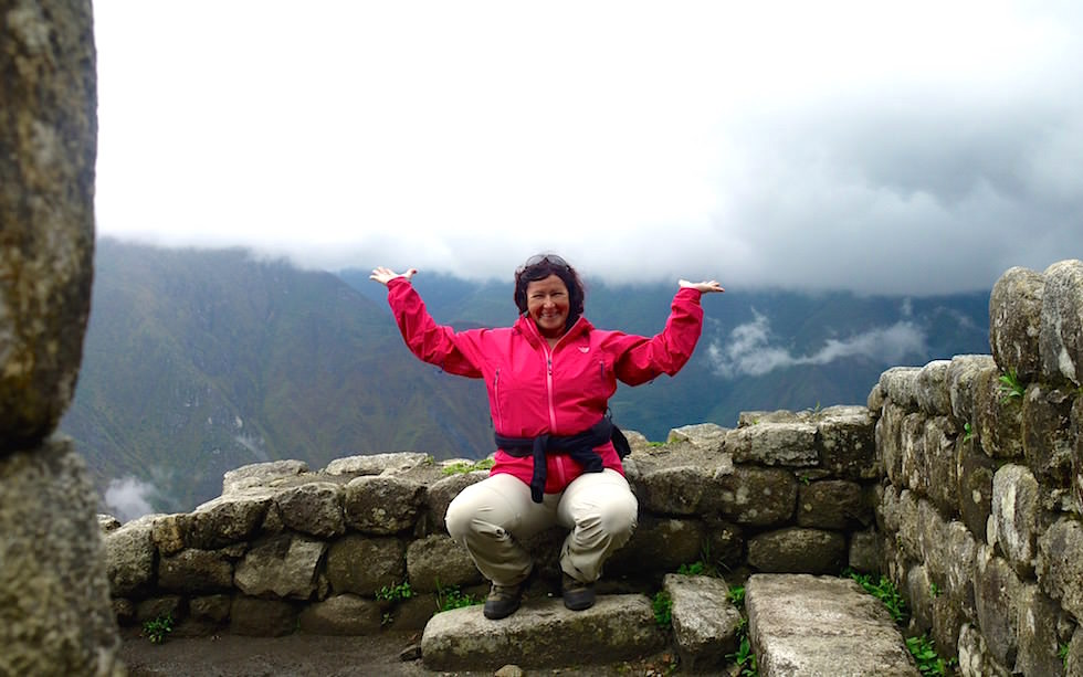 Wayna Picchu Terrassen am Gipfel Machu Picchu
