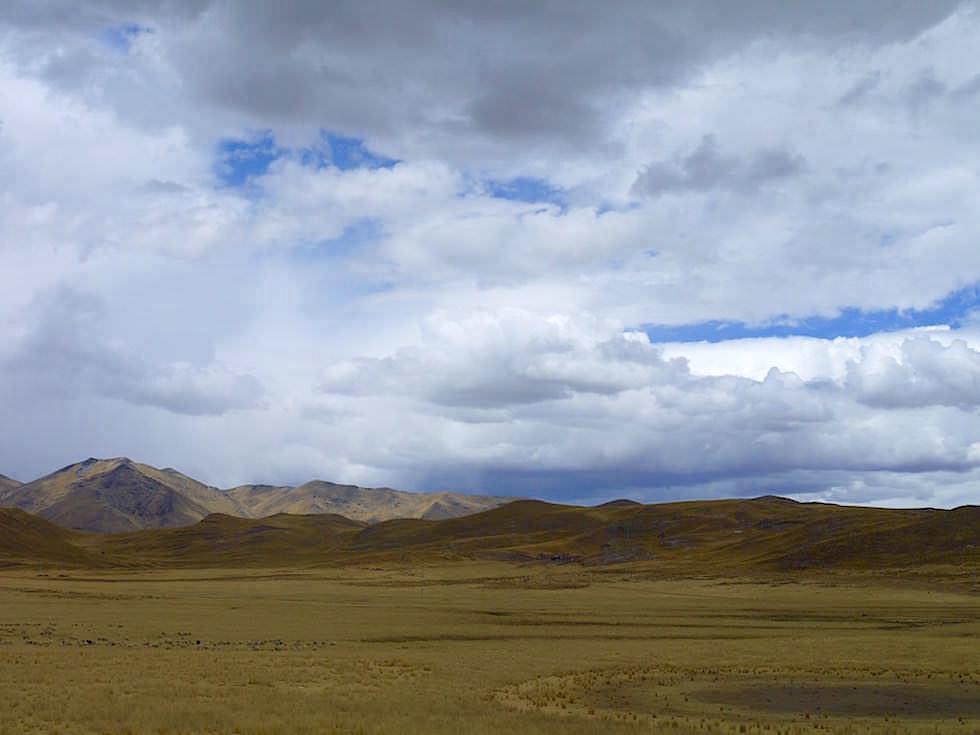 Altiplano Landschaft Peru bei Puno
