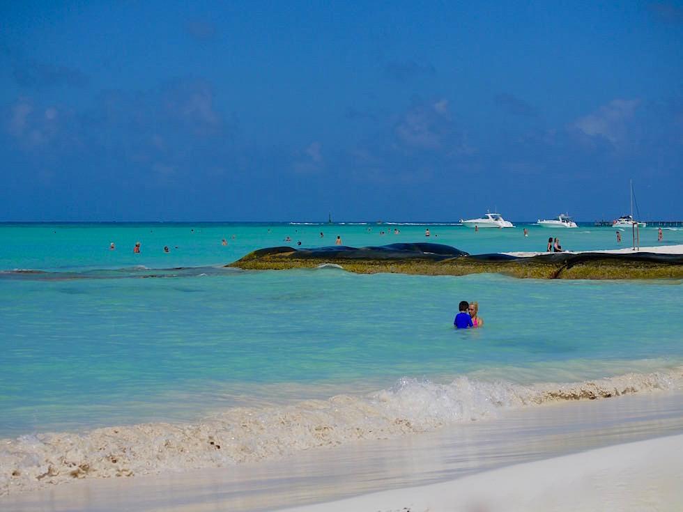 Playa Norte: ein beliebter Strand auf der Isla Mujeres - Yucatan - Mexiko