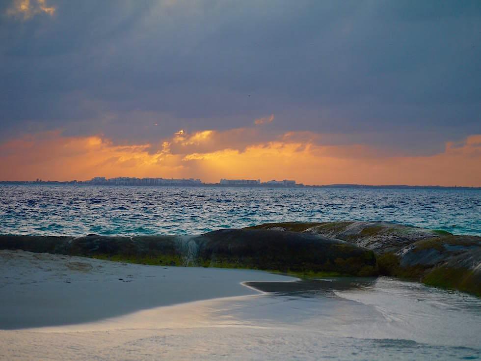 Isla Mujeres: Sonnenuntergang an der Playa Norte - Yucatan - Mexiko