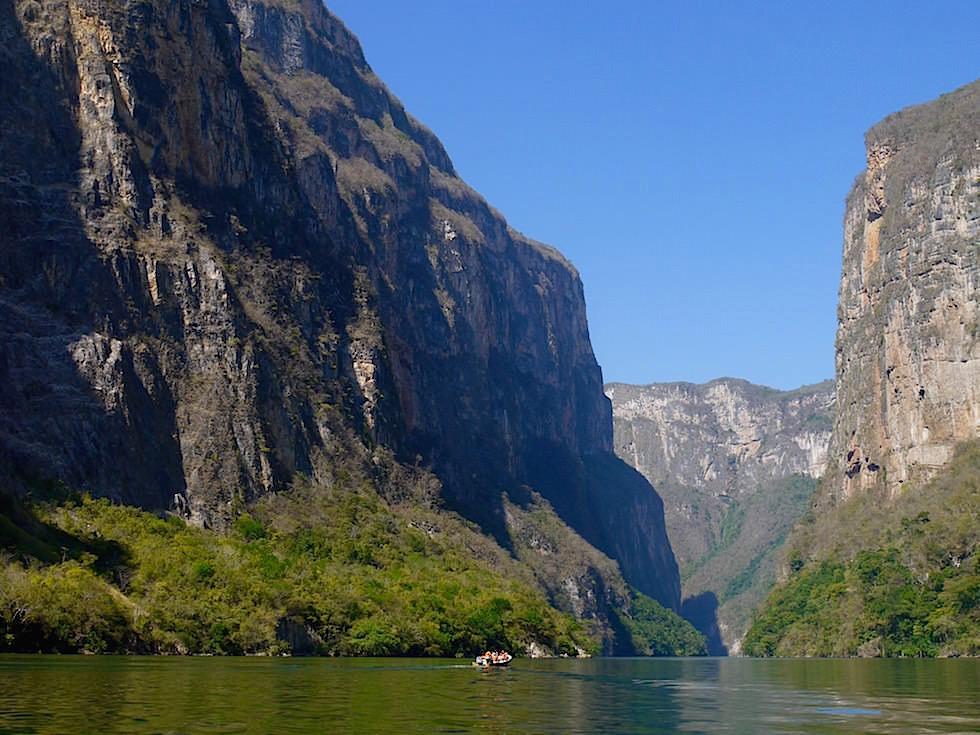 Einfahrt zur Schlucht - Canon del Sumidero - Sumidero Schlucht bei Chiapa de Corzo - Chiapas, Mexiko