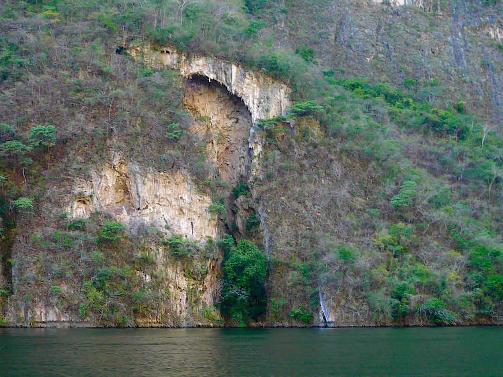 Steilwände - Canon del Sumidero - Sumidero Schlucht bei Chiapa de Corzo - Chiapas, Mexiko