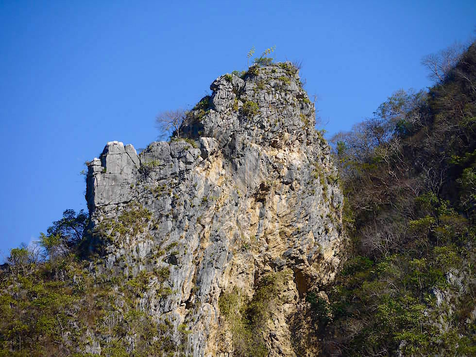 Felsformationen - Canon del Sumidero - Sumidero Schlucht bei Chiapa de Corzo - Chiapas, Mexiko