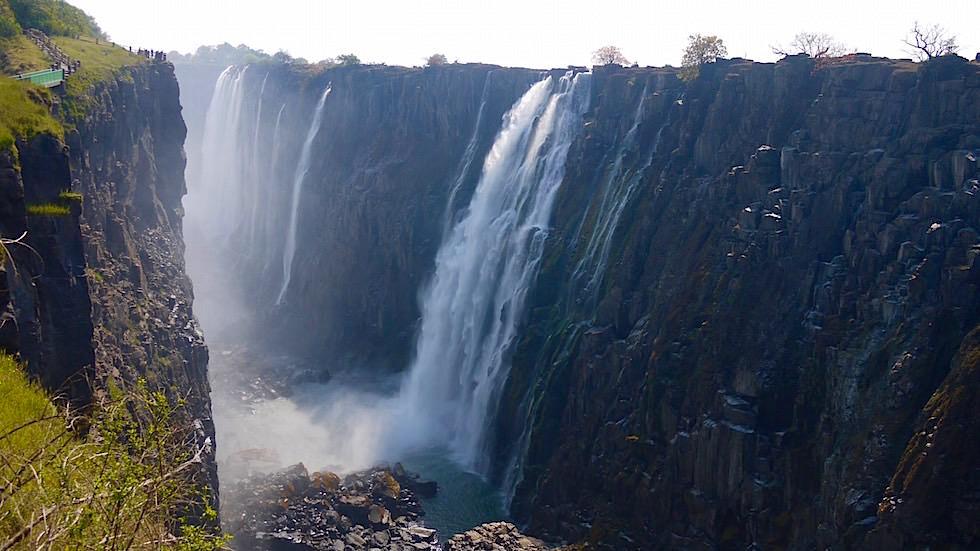 Rundgang - Victoria Falls von Livingstone Zambia, Afrika
