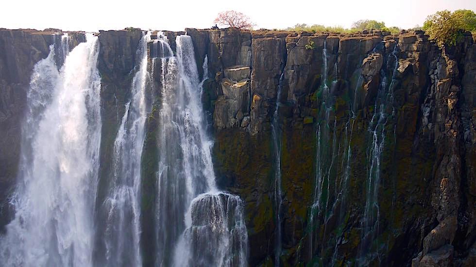 Blick auf Victoria Falls von Livingstone Zambia, Afrika(1)