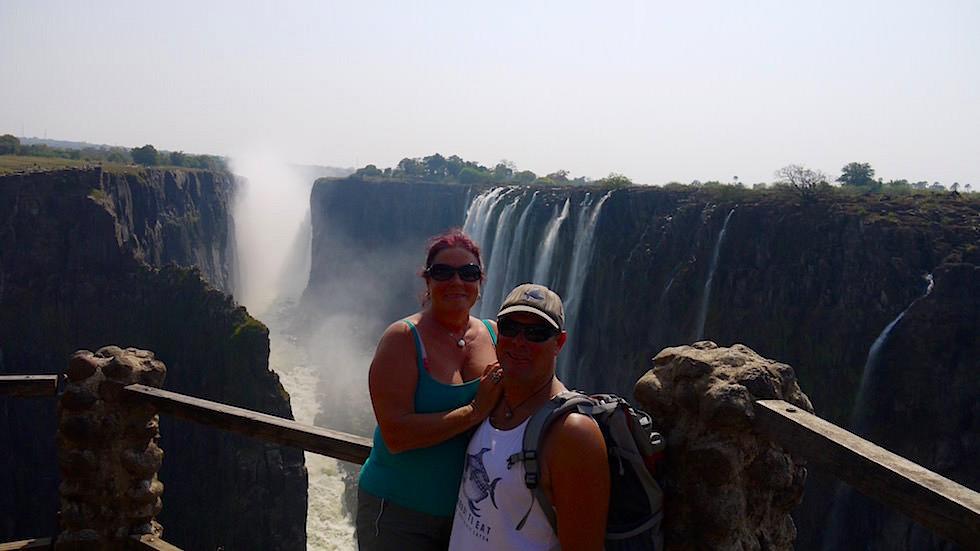 Aussichtspunkt Victoria Falls von Livingstone Zambia, Afrika(1)