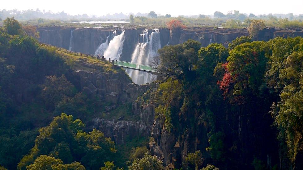 Knife Edge Bridge - Victoria Falls von Livingstone Zambia, Afrika