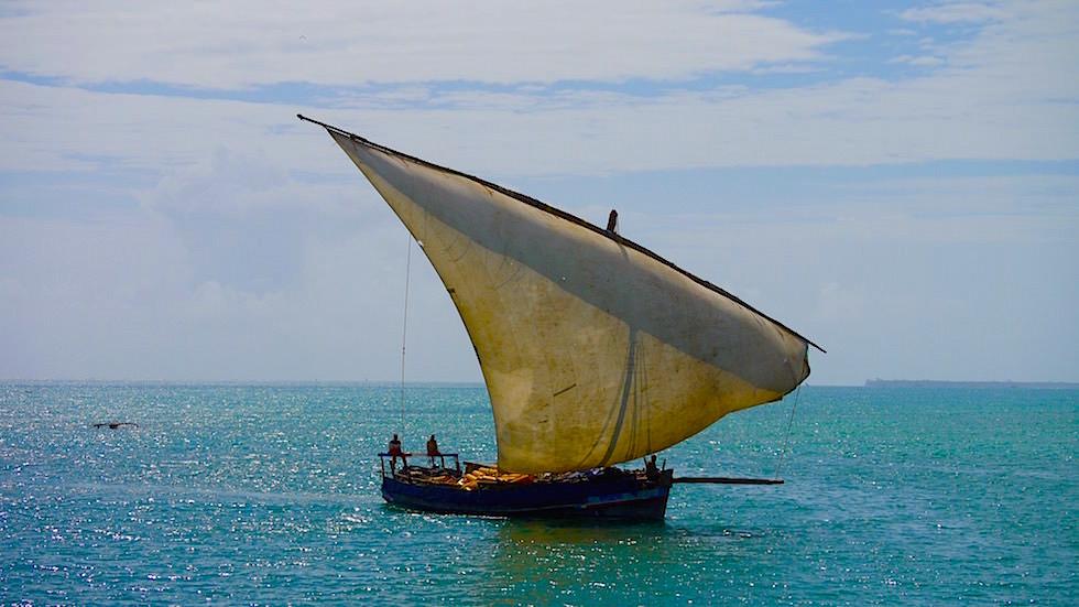 Dhau typischer Bootstyp Ostafrika - Sansibar - Tansania, Afrika
