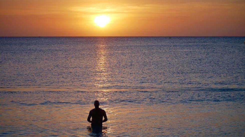 Sonnenuntergang am Kendwa Beach- schönster Strand von Sansibar - Tansania, Afrika