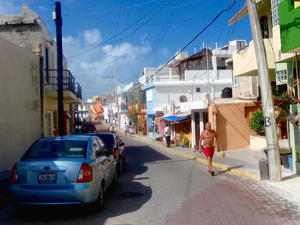 Straßen & Zentrum der Isla Mujeres - Yucatan - Mexiko