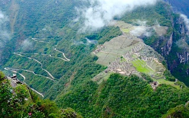 Machu Picchu gesehen von Wayna Picchu - Peru
