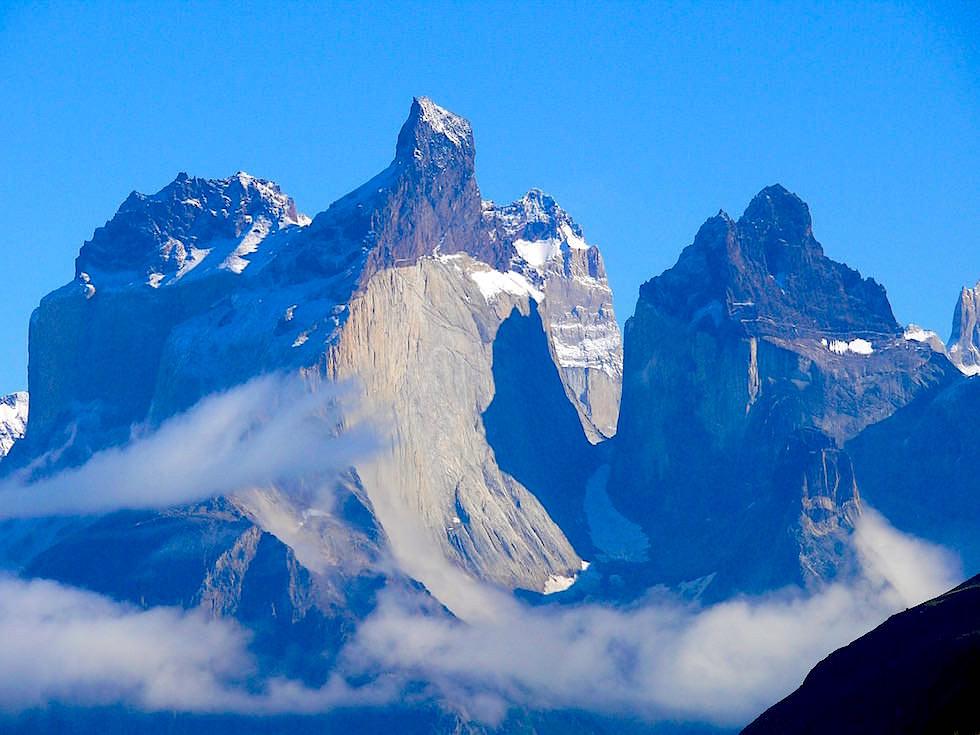 Los Cuernos - Hörner - Gesteinsmetamorphose - Intrusion - Torres del Paine - Patagonien, Chile