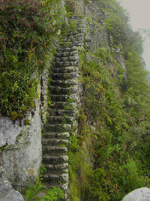 Besteigung Stufen Wayna Picchu - Machu Picchu Peru