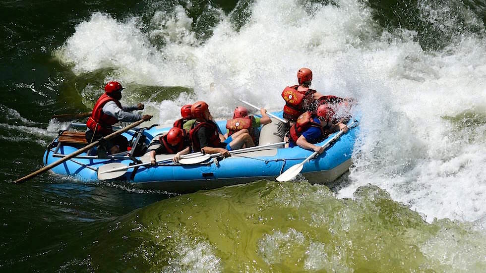 White-Water-Rafting Zambesi River Zambia Afrika